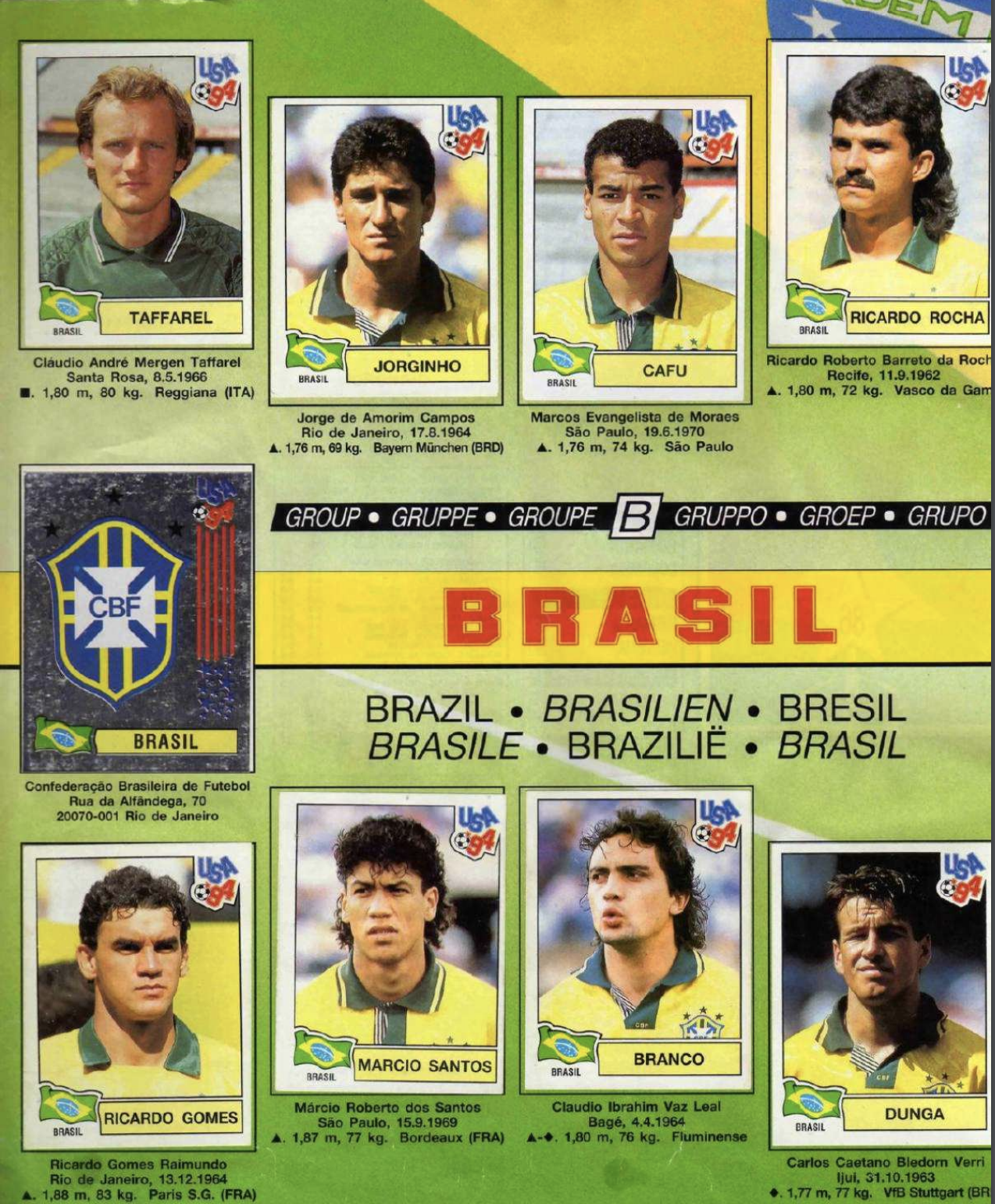 Photo of No album: Seleção 1994